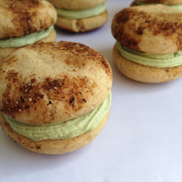 Cardamom Spiced Cookies with Matcha Coconut Cream Filling