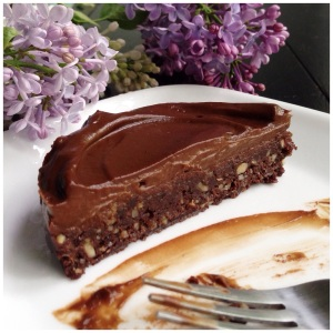Chocolate Ganache [raw] Brownies