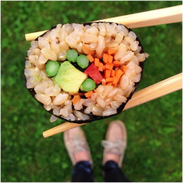 Brown Rice & Veggie Sushi