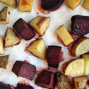 roasted potatoes & beets