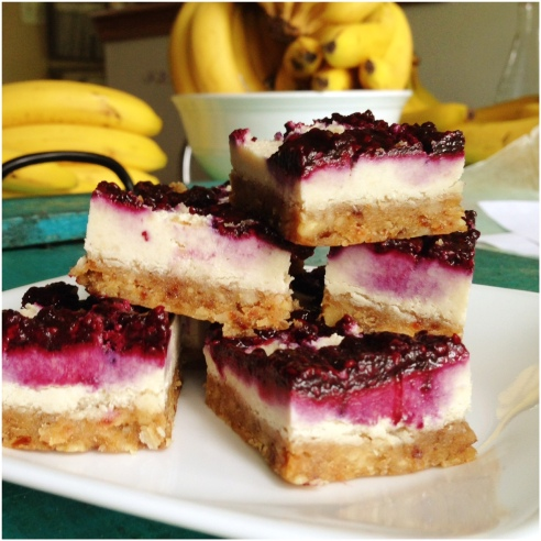 Raw Berry Cheesecake Bars